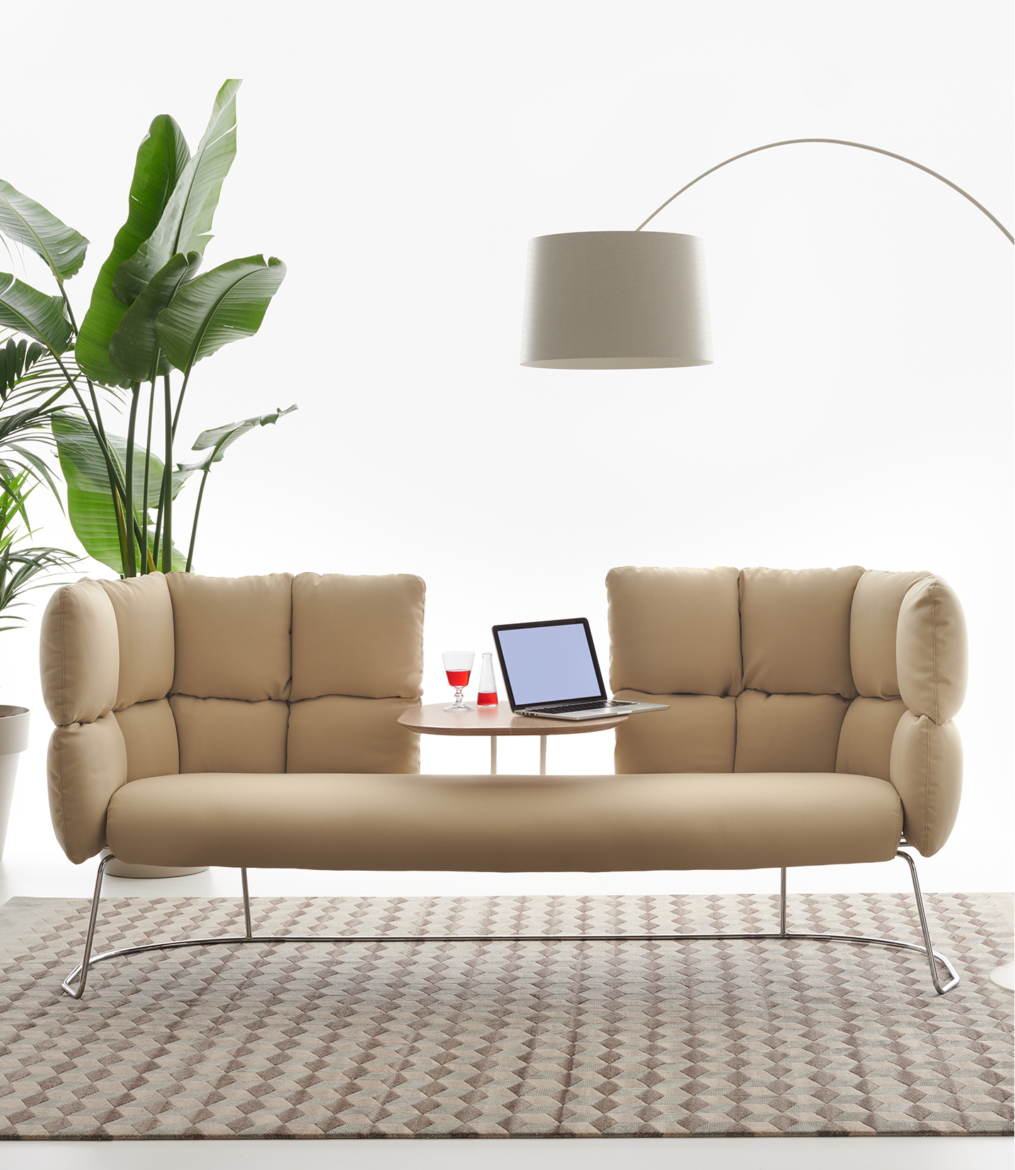 Undecided 2 Seater Low Sofa With Table